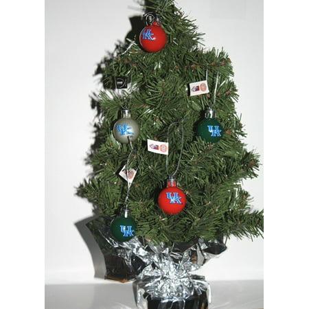Kentucky Wildcats Table Top Christmas Tree W 16 Logo Ornaments