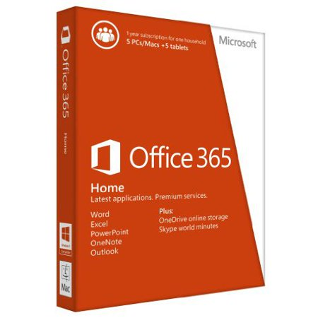 Microsoft Office 365 Home- 5 PCs/Macs + 5 Tablets/iPads, 1-year subscription Deal