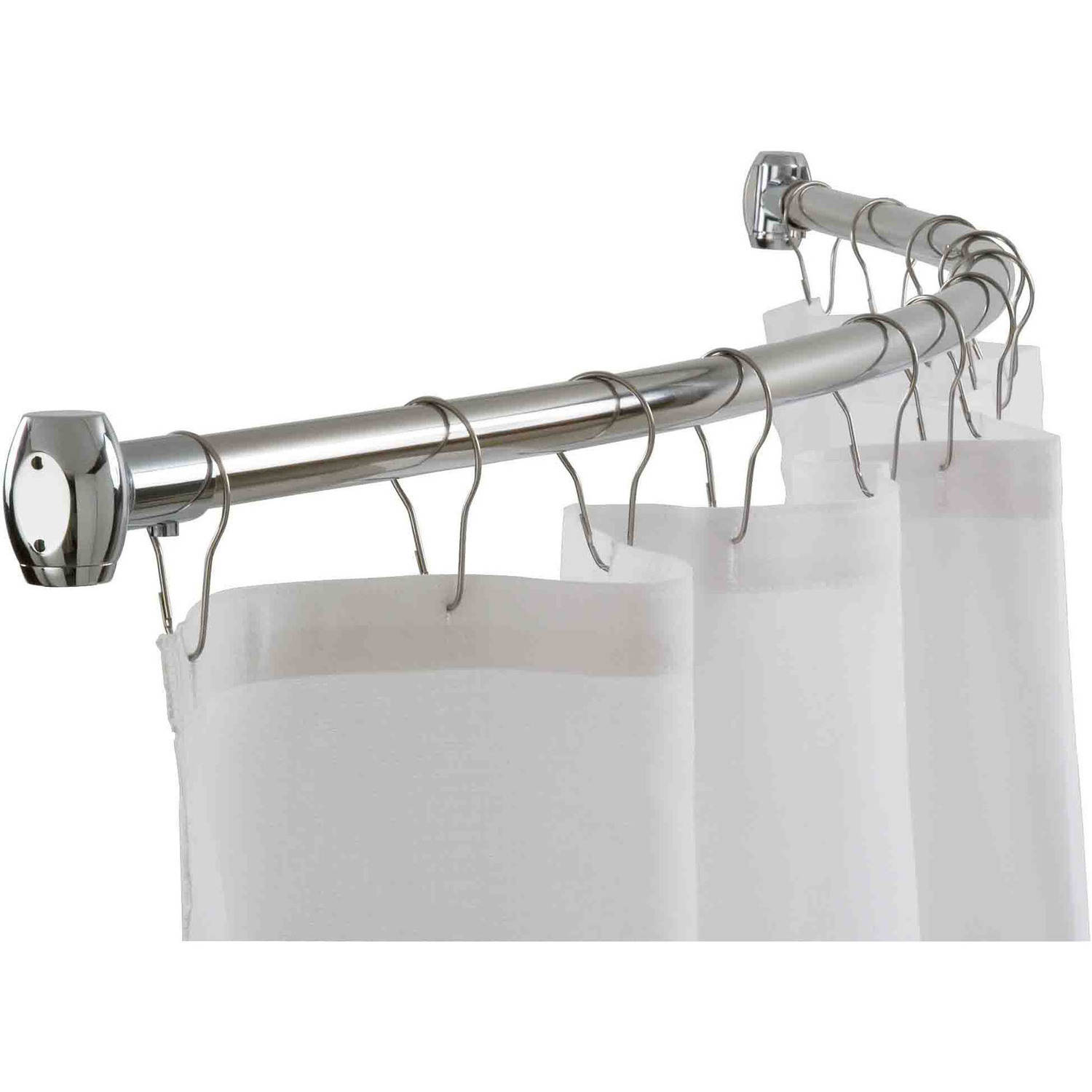 Home Basics Chrome Curved Shower Rod