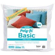 "Fairfield Poly-Fil Basic Pillow Insert 2/Pkg-24""X24"" Fob: Mi"