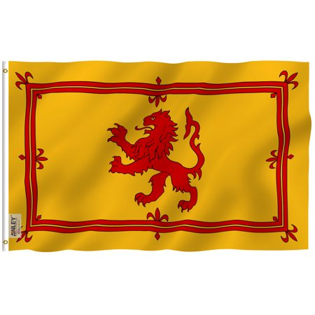 - ANLEY Fly Breeze 3x5 Foot Scotland Rampant Lion Flag - Vivid Color and UV Fade Resistant - Canvas Header and Double Stitched - Scottish Rampant Lion Flags Polyester with Brass Grommets 3 X 5 Ft