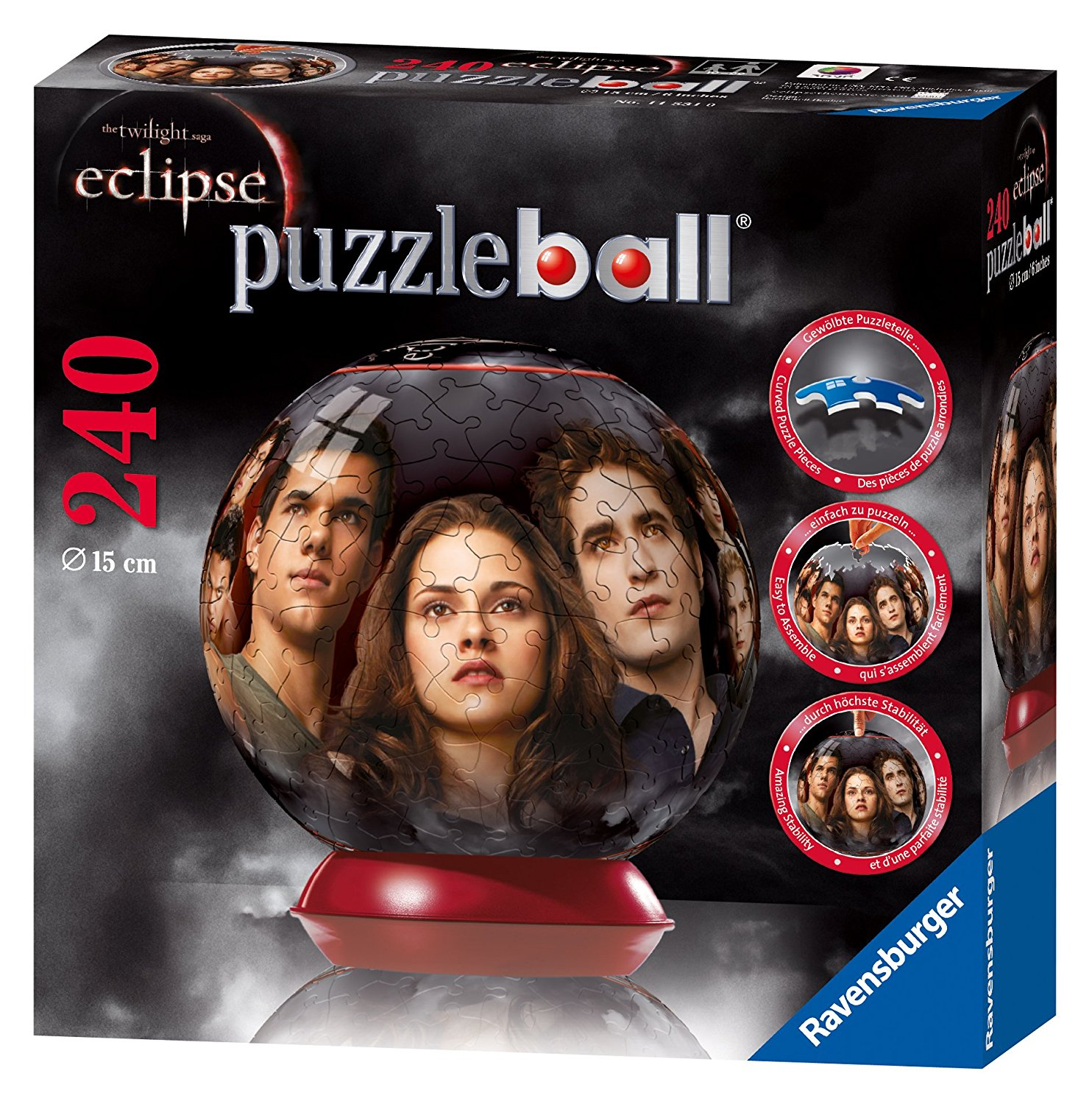 The Twilight Saga: Eclipse 240 Piece Puzzleball, Puzzleball a uniquely rounded puzzling experience By... by