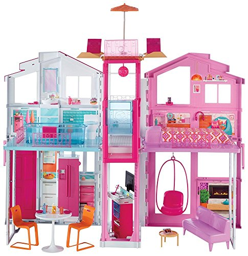 Barbie Pink Passport 3-Story Townhouse by Mattel