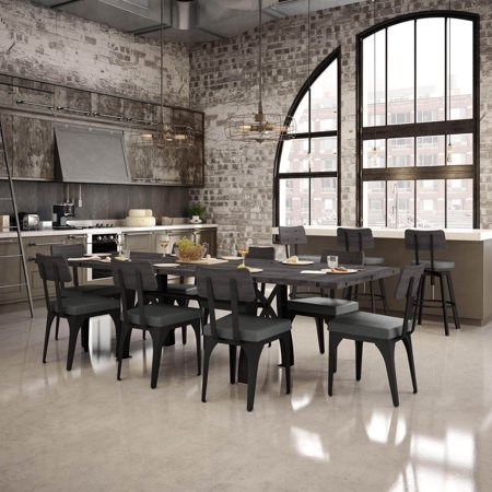 Amisco  Symmetry Metal Chairs And Sierra Table 72   With Leaves  Dining Set