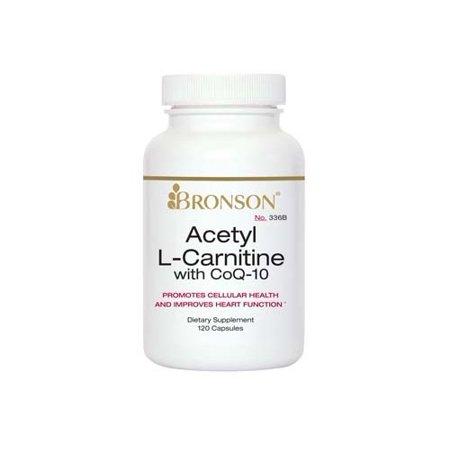 Bronson Acetyl L-carnitine avec CoQ10, 120 Capsules
