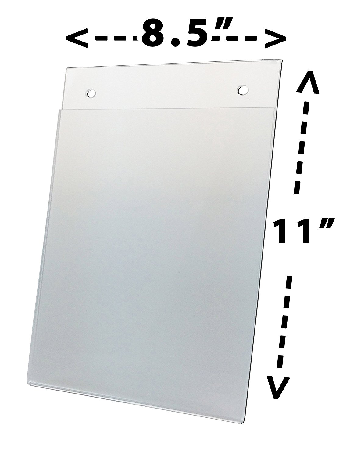 6 Pack Clear Plastic Sign Holder, Wall Mount, 8 1 2 x 11 (Catalog Category: Furniture & Accessories   Signs),... by