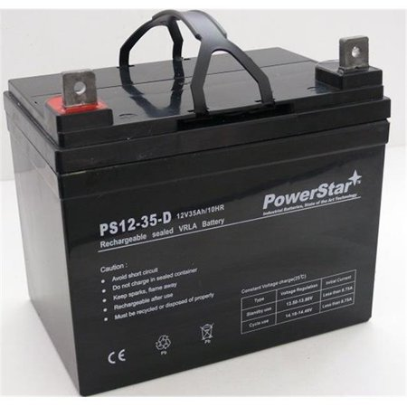 PowerStar AGM1235-215 12V 35Ah Battery for John Deere Lawn Tractor-Riding Mower 108 - 2 Years Warranty