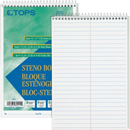 Tops Steno Book (TOPS, TOP8020, Steno Books, 12 / Pack )