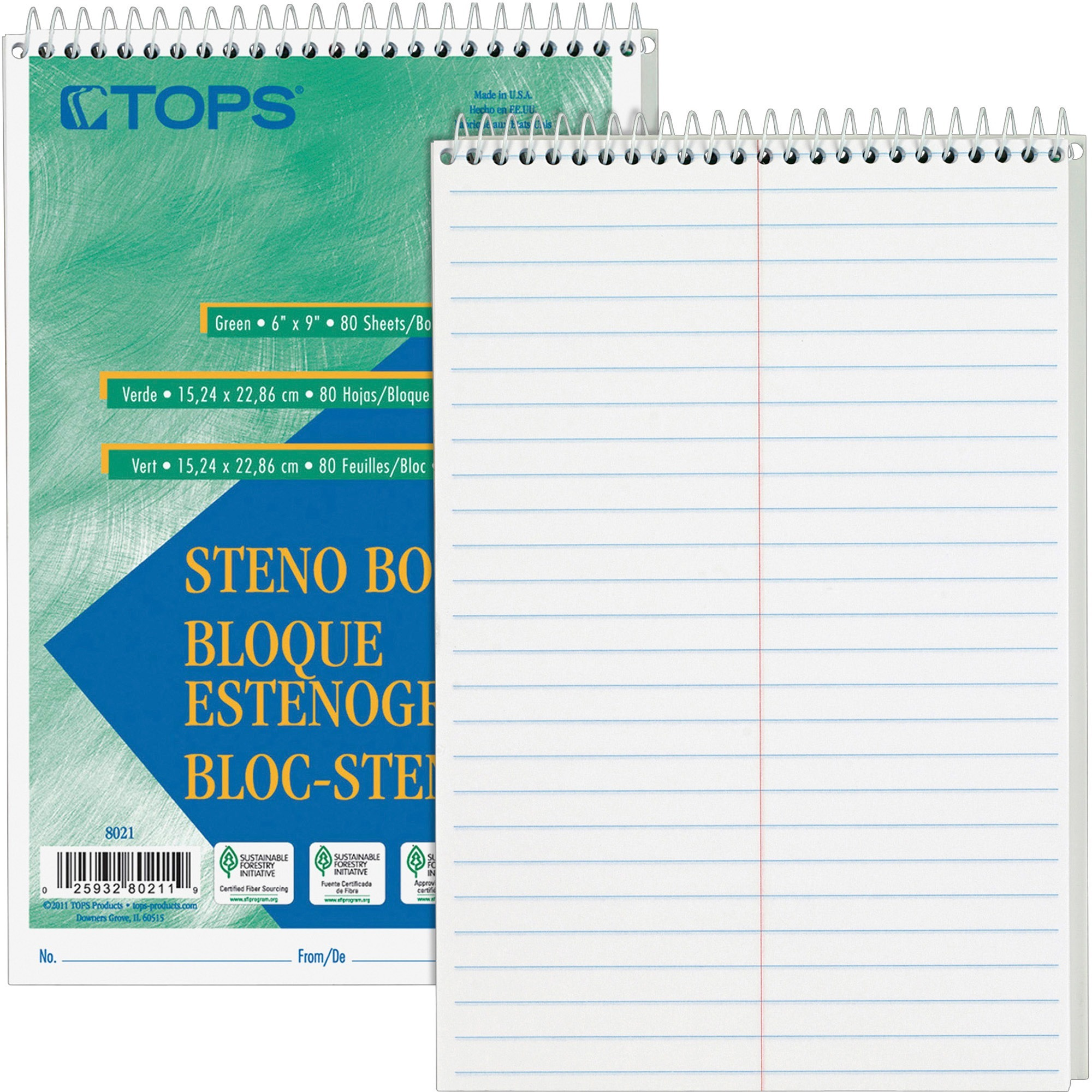 TOPS, TOP8020, Steno Books, 12 / Pack