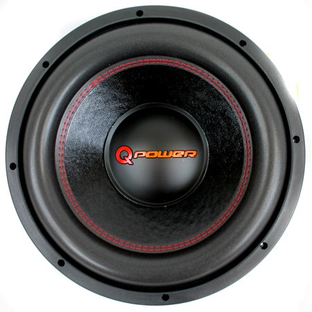 Q Power 15 Inch 4000 Watt Super Deluxe Subwoofer  DVC Car Audio Sub | (Best 15 Inch Woofer)