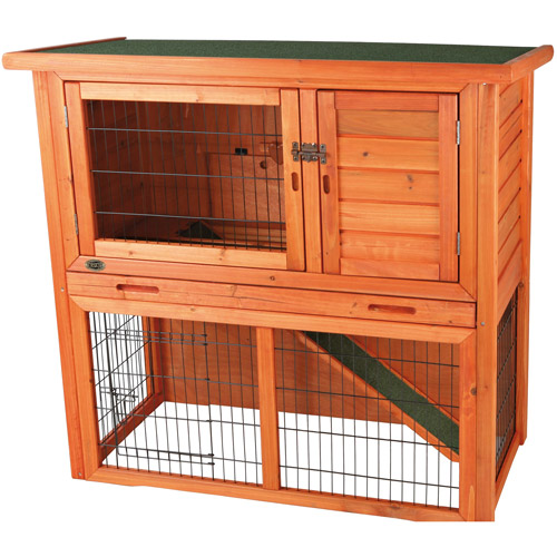 Trixie Pet Products Rabbit Hutch with Sloped Roof, Medium