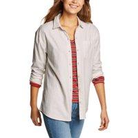Eddie Bauer Women's Stine's Favorite Flannel Boyfriend Shirt - Solid