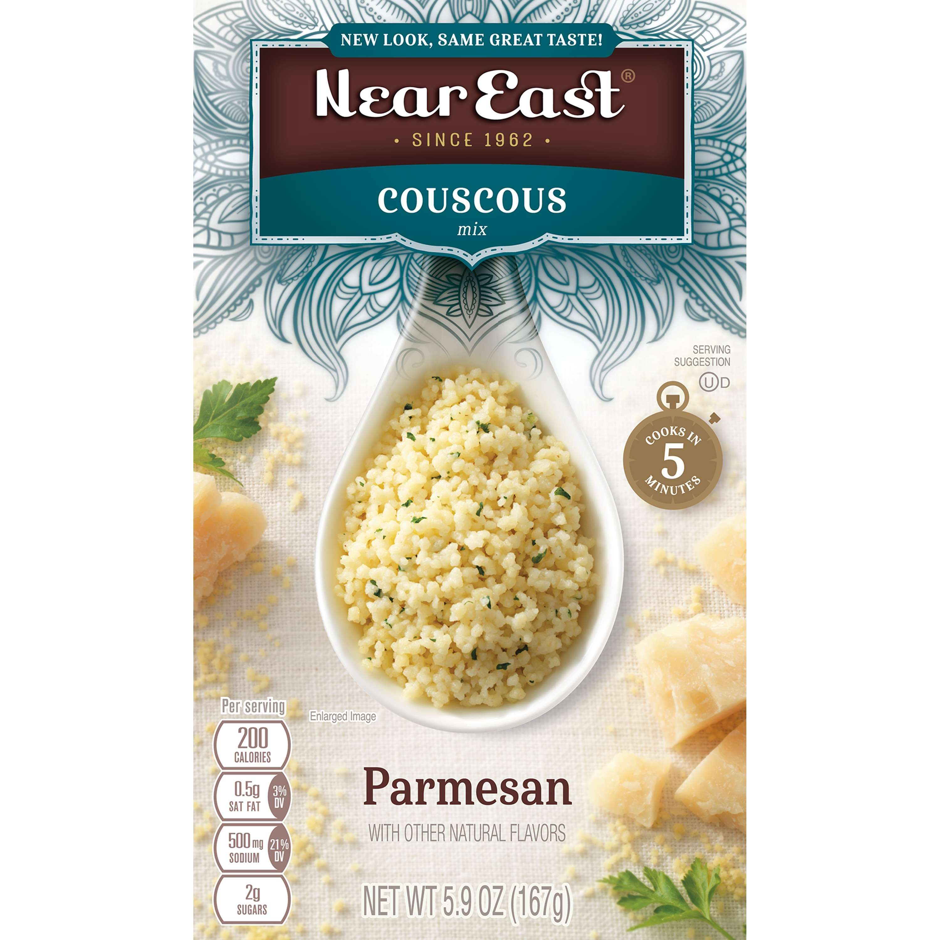 Near East Couscous Mix, Parmesan, 5.9 oz Box