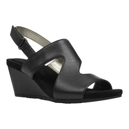 Women's Bandolino Gannet Wedge Slingback (Bandolino Suede Sandals)