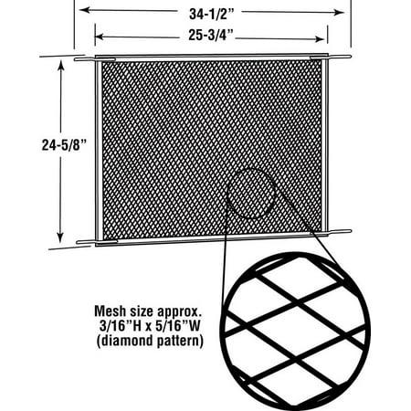 Prime Line Products PL 15931 Screen Door Grille, Satin Aluminum, -