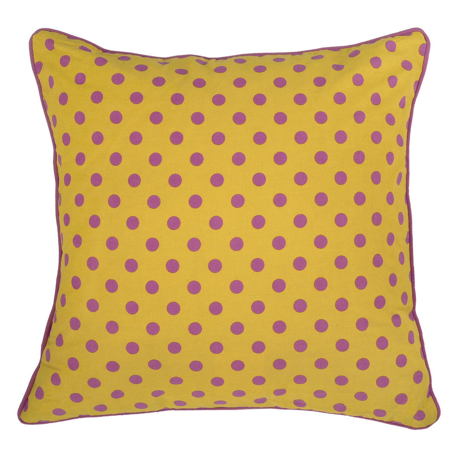 "Rachel Kate By Rizzy Home Decorative Poly Filled Throw Pillow Dots 18""X18"" Yellow"