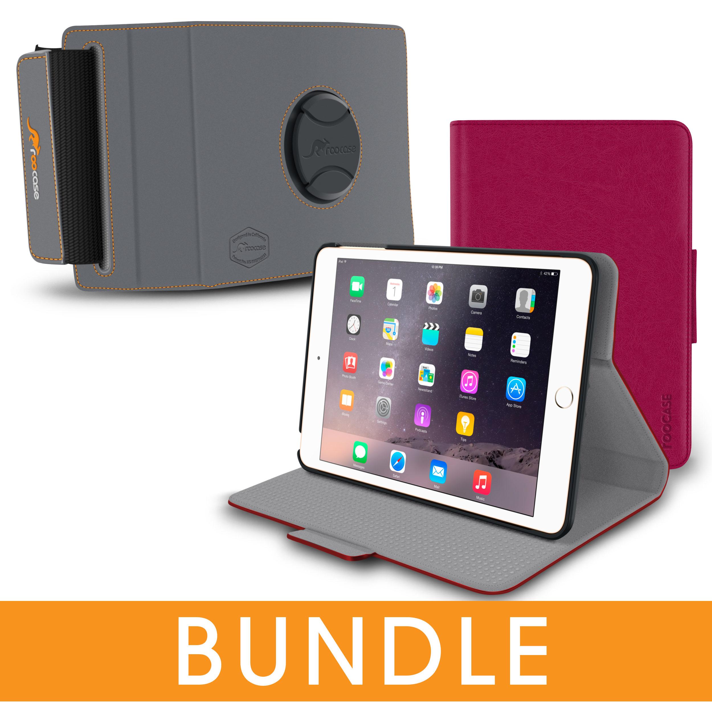 iPad Mini 3 2 1 Case, rooCASE Orb Folio 360 Rotating Leat...