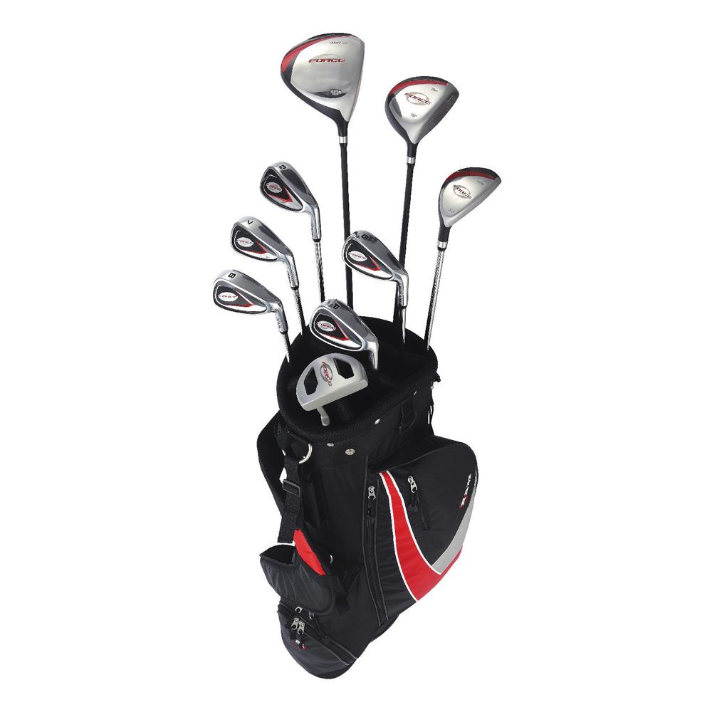 New RAM G-Force Men's Complete Golf Set w/ 9 Clubs + Cart...