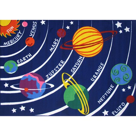 Fun Rugs Childrens Time Collection Solar System