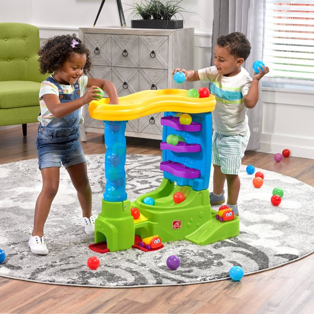 Step2 Ball Buddies Double Drop HQ Ball Tower for Toddlers