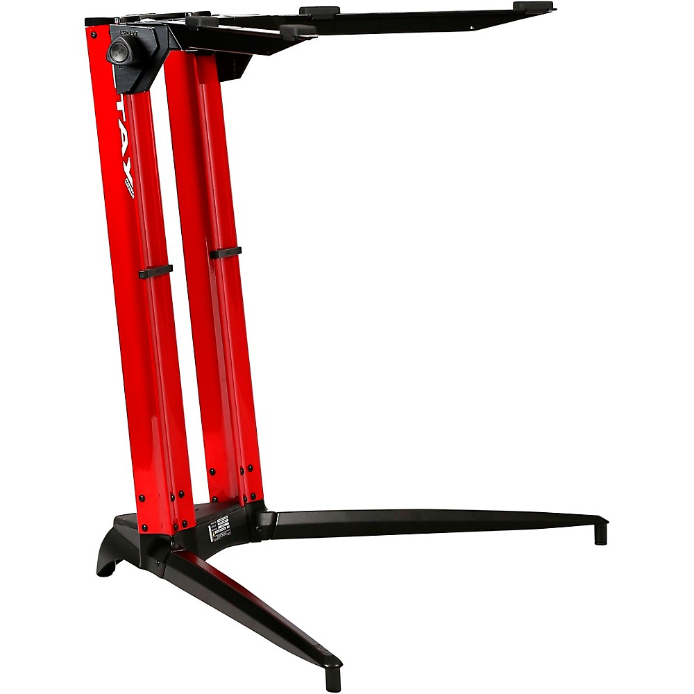 Stay Piano Series Sitting Height Single-Tier Keyboard Stand Red