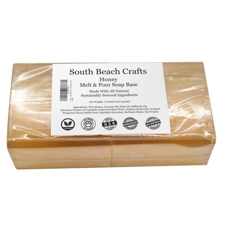 Honey - 2 Lbs Melt and Pour Soap Base - South Beach (Base Snap)