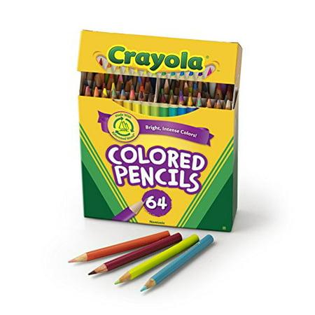 Crayola Colored Pencils, 64 Count, Vibrant Colors](Crayola Colored Pencils 64)