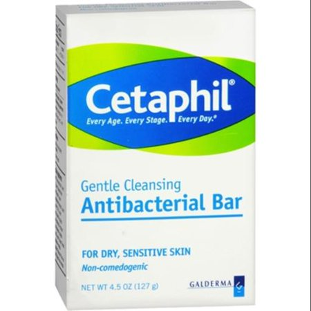 Cetaphil Antibacterial Gentle Cleansing Bar for Dry ...