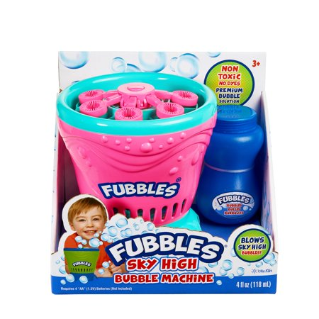 Little Kids - Fubbles Sky High Bubble Machine, Pink/Teal - Pink Bubbles