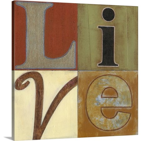 Great Big Canvas Norman Wyatt Premium Thick Wrap Canvas Entitled Live A Lot