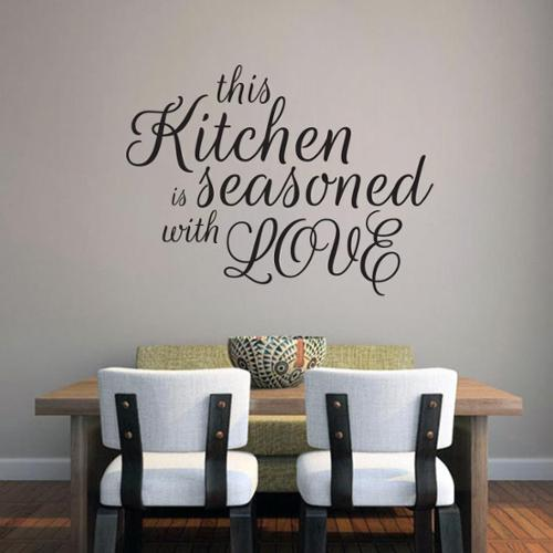 This Kitchen Is Seasoned With Love Wall Decal (36-inch x 27-inch) ORANGE