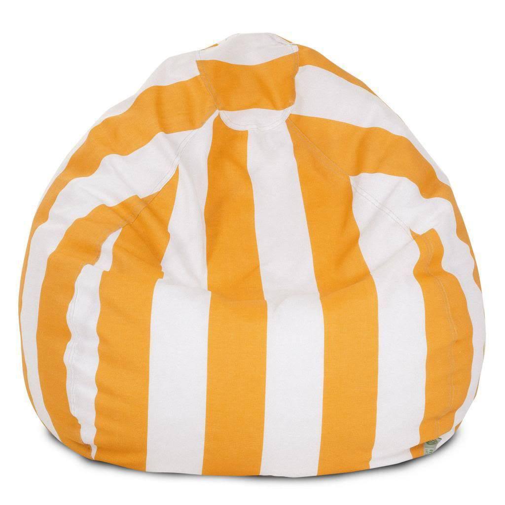 Yellow Vertical Stripe Small Classic Bean Bag