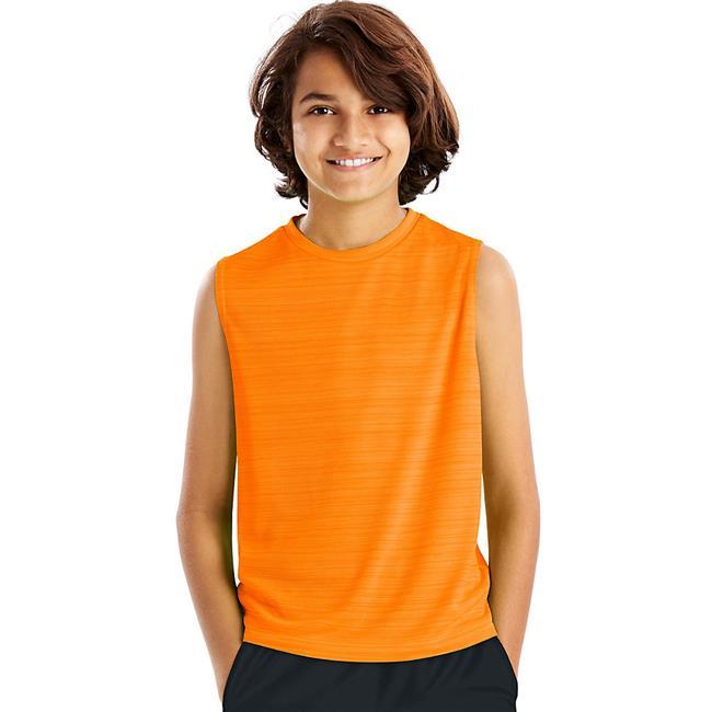 Sport Sleeveless Heathered Tech Tee Shirt for Boys - Glazed Orange Heather, Extra Large - image 1 of 1