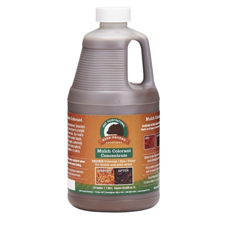1/2 Gallon Brown Concentrated Mulch Colorant (Red Mulching Plastic)