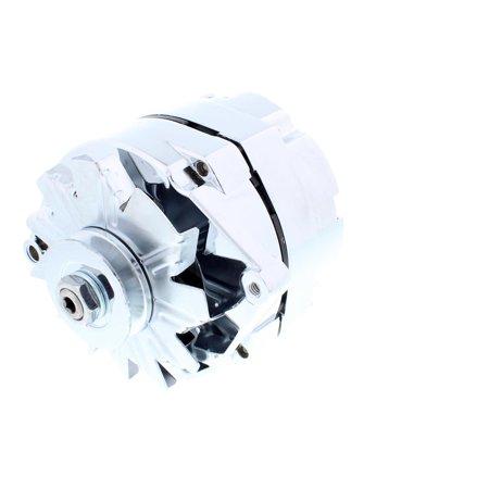 Chrome GM 1-Wire Alternator, 60 Amp, Internally Regulated - Internally Regulated Alternator