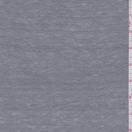 Steel Grey Slubbed Jersey Knit, Fabric By the Yard (The Steel Yard)