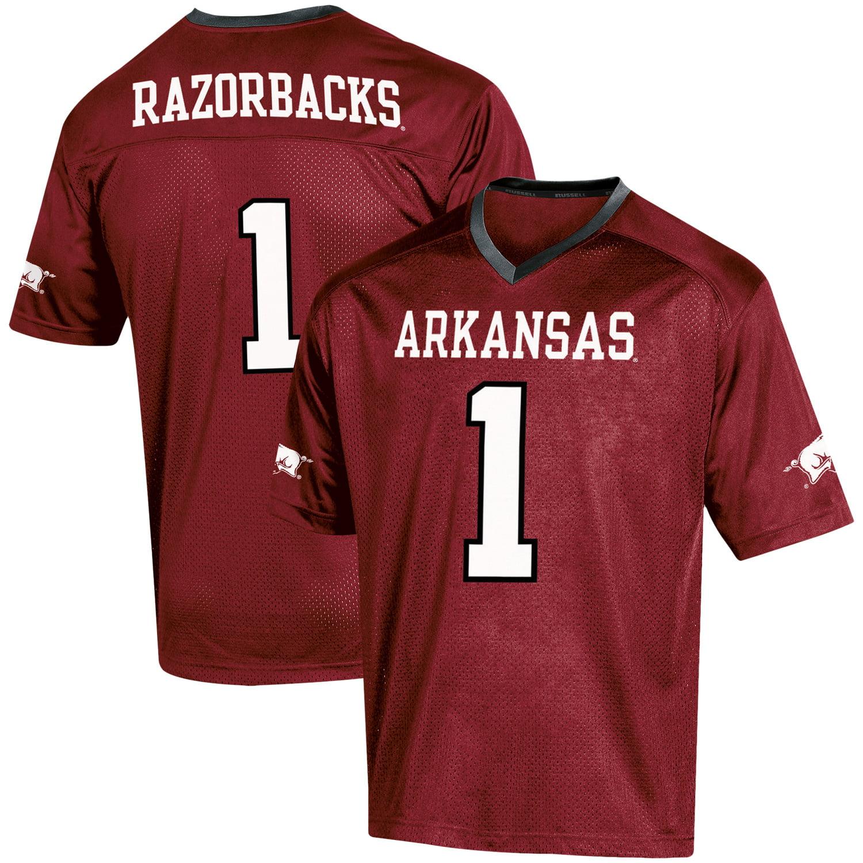 Youth Russell Cardinal Arkansas Razorbacks Replica Football Jersey