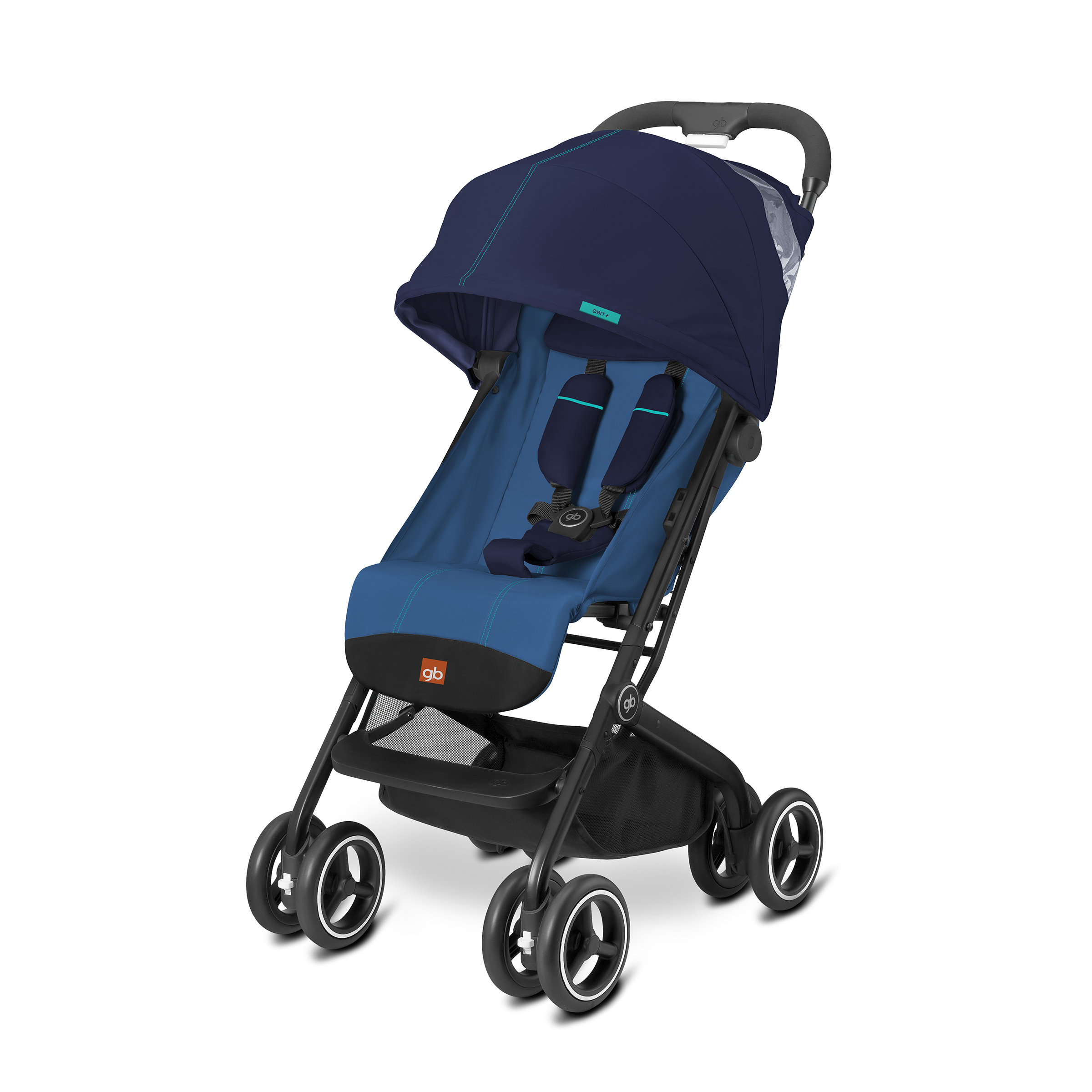 gb Qbit + Lightweight Stroller, Sea Port Blue
