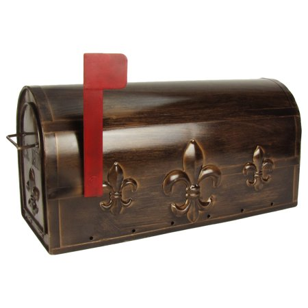 Large Package Metal Fleur DeLis US Mailbox Mail Post Letter Box House&Home (Best Way To Mail Large Packages)