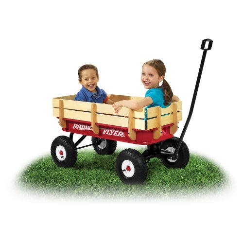 Radio Flyer All-Terrain Steel & Wood Kids Wagon