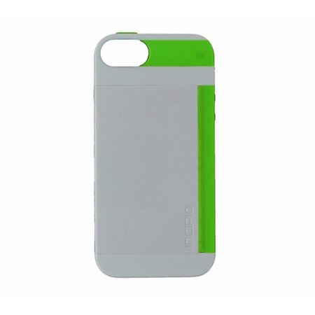 reputable site b5ce8 5f0c2 Incipio STOWAWAY Case for iPhone 5S - White/Lime
