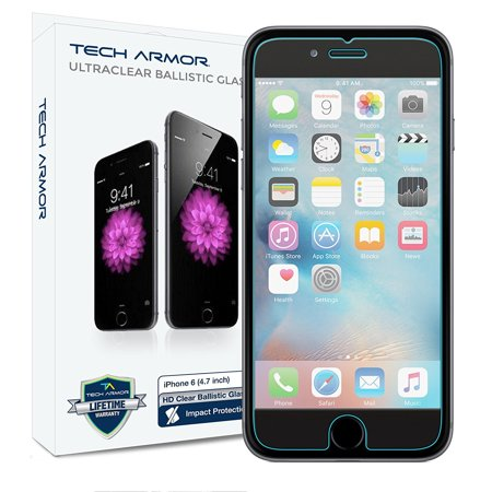 - Tech Armor Ballistic Glass Screen Protector for iPhone 6/6S 4.7-Inch