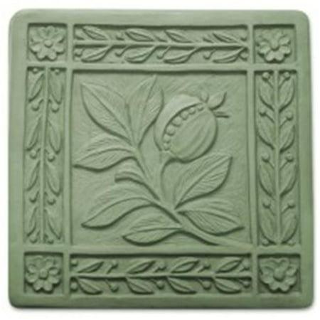 Garden Molds (Garden Molds X-ARTN8055 Art Nouveau Tile Stepping Stone Mold - Pack of)
