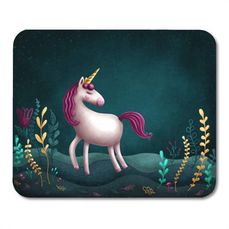SIDONKU Character of Little Unicorn Copy Space Dark Digital Dream Fairy Mousepad Mouse Pad Mouse Mat 9x10 inch](Space Character)