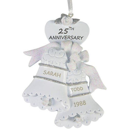 Personalized 25th Anniversary Christmas Ornament