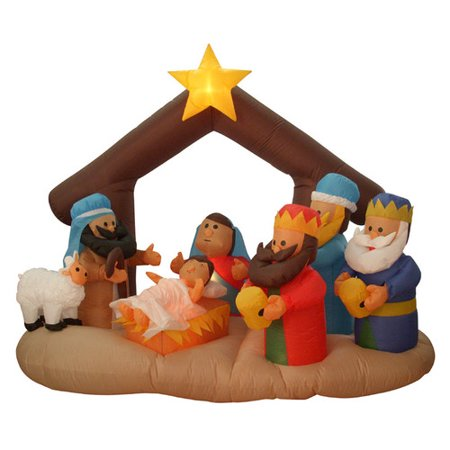 Northlight Seasonal Nativity Scene Lighted Christmas Inflatable