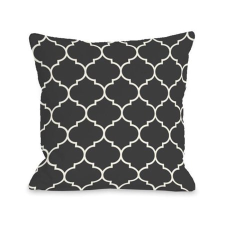 783f59e3539 One Bella Casa 74700PL18 18 x 18 in. Repeating Moroccan Charcoal Pillow -  Walmart.com