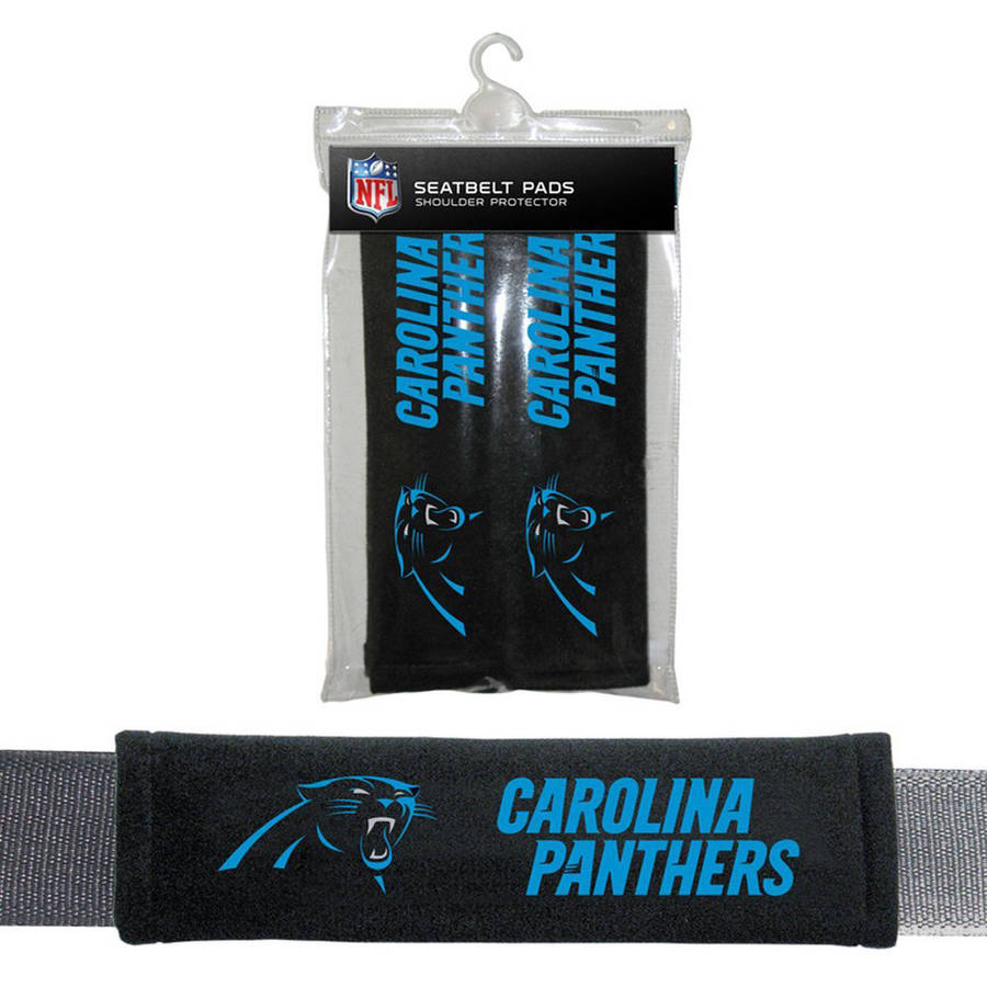 NFL Carolina Panthers Velour Seat Belt Pads