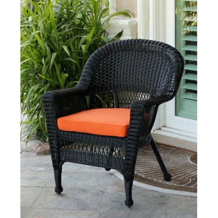 36 Black Resin Wicker Outdoor Patio Garden Chair With