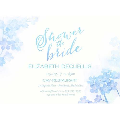 Ombre Standard Bridal Shower Invitation